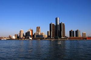 Detroit, MI skyline