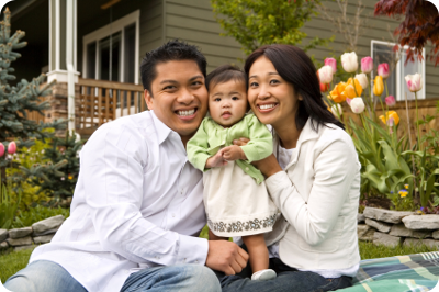 Family looking for best mortgage loan options